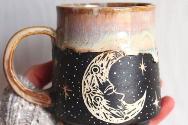 ceramic mug, easy DIY craft to make and sell
