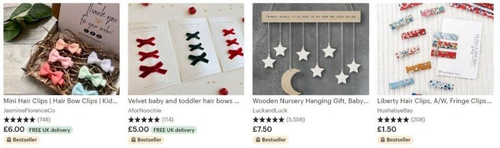 best crafts to sell on etsy, baby accessories
