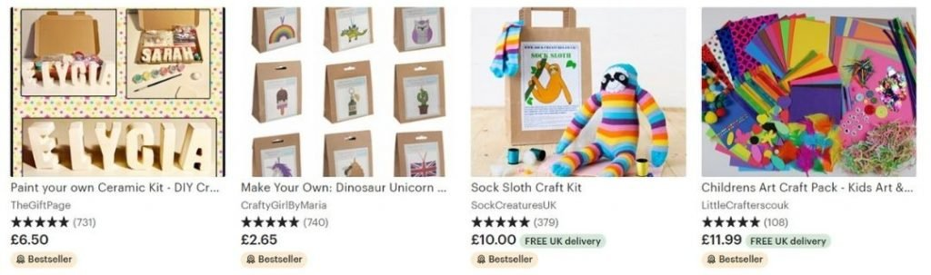 things to sell on etsy, craft kits