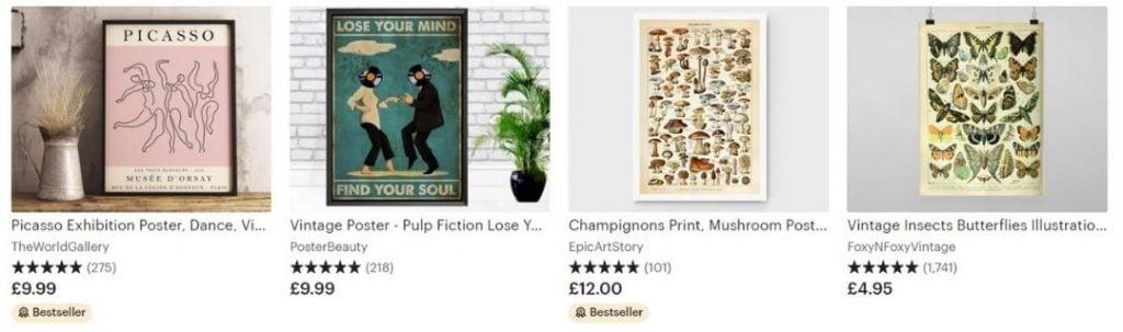 vintage bestsellers on etsy