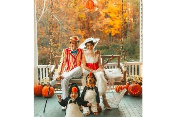 Mary Poppins Family Halloween Costume Idea