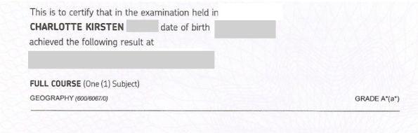 12A*s gcse grade profile