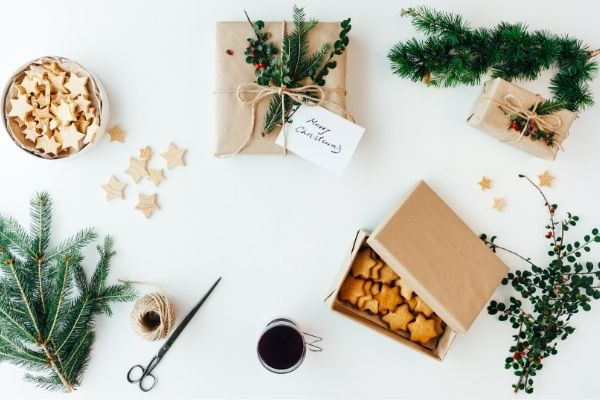 zero waste christmas gift ideas kraft paper packaging