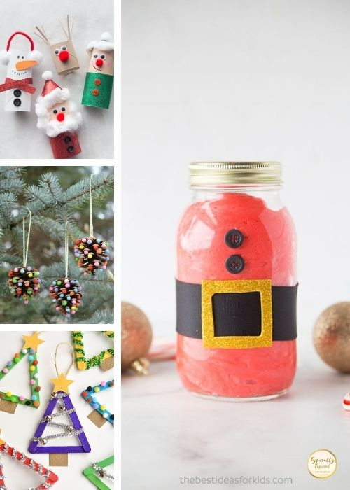 childrens christmas crafts collage