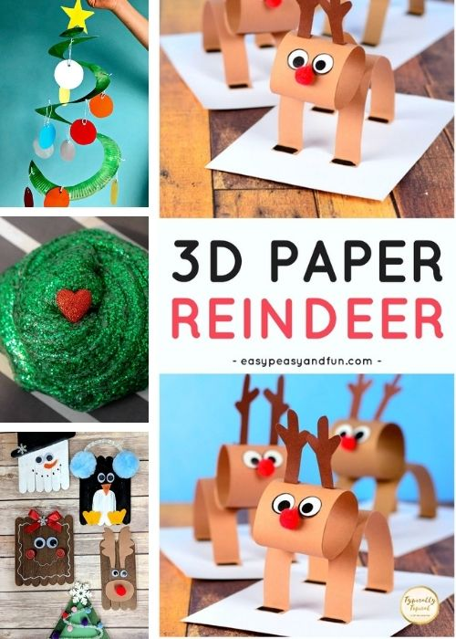 reindeer childrens christmas crafts