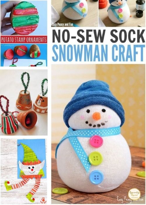 snowmen childrens Christmas crafts