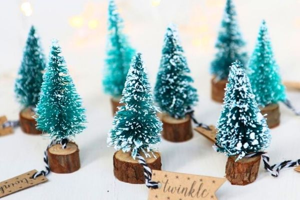 christmas mini tree baking and home decor