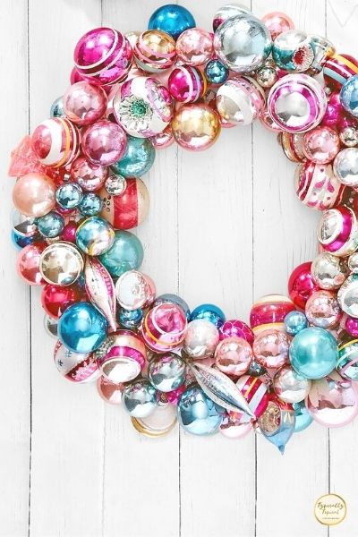 DIY vintage Christmas wreath dollar store idea