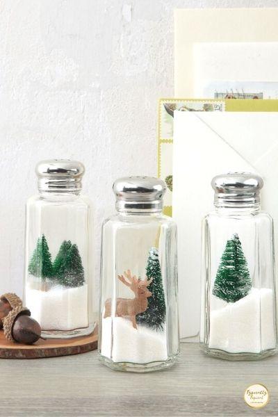christmas figurine holiday shakers