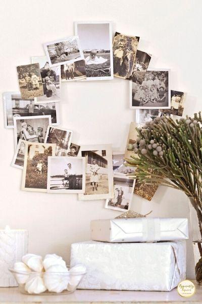 DIY photo wreath dollar store decor
