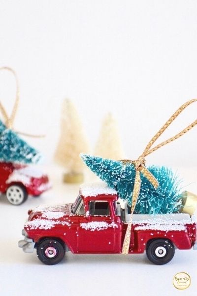 DIY toy truck Christmas tree decorations