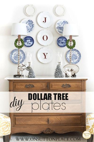DIY dollar tree Christmas plates