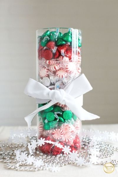 DIY candy treat vase