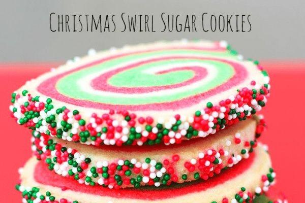 christmas sugar swirl cookies