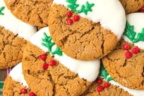 ginger white dipped chocolate cookies
