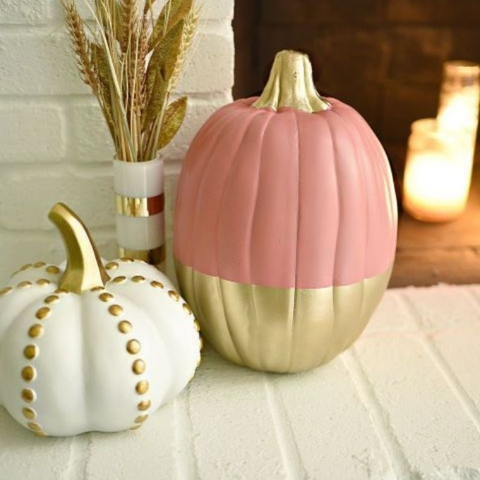 elegant painted pumpkin ideas