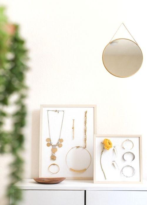 DIY jewellery organizer ikea storage idea