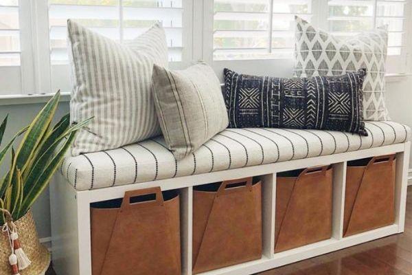 ikea hack bedroom storage bench