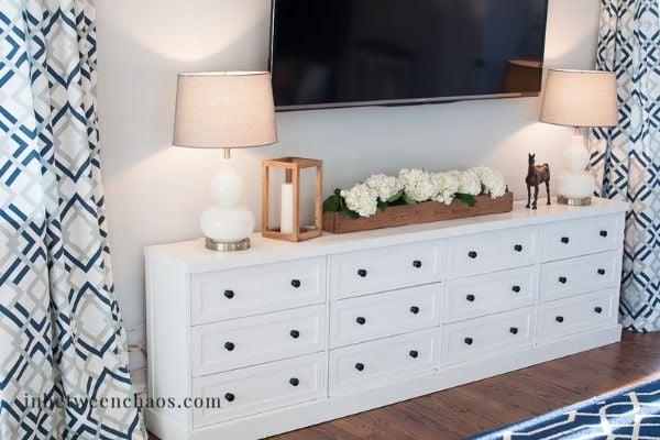 media console ikea storage idea for bedroom