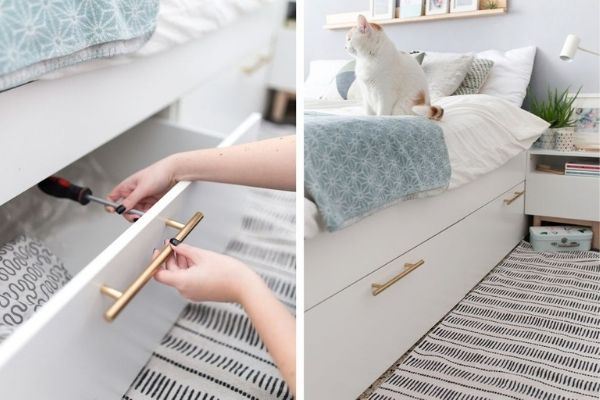 under bed storage hack IKEA for small bedroom