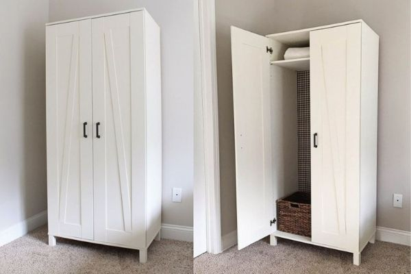 ikea wardrobe small space storage solution