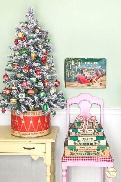 retro christmas small tree
