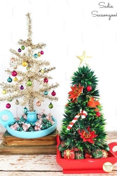 mini candlestick christmas trees