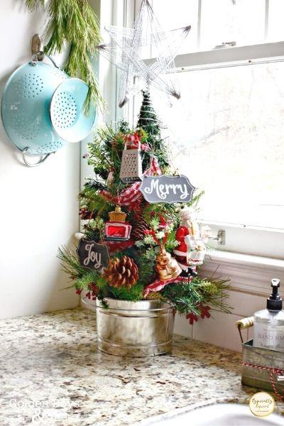mini christmas tree for the kitchen