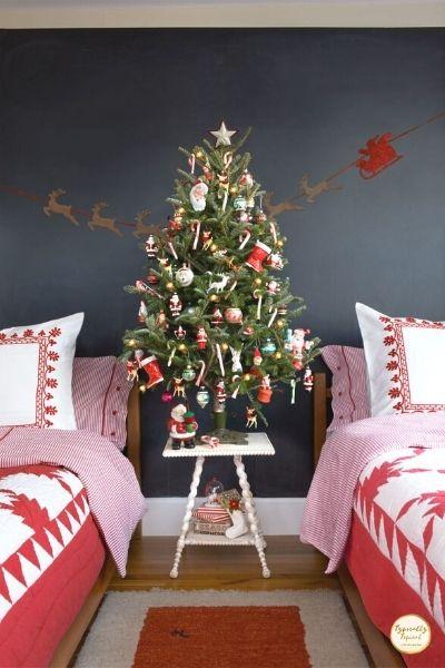 vintage childrens bedroom christmas tree