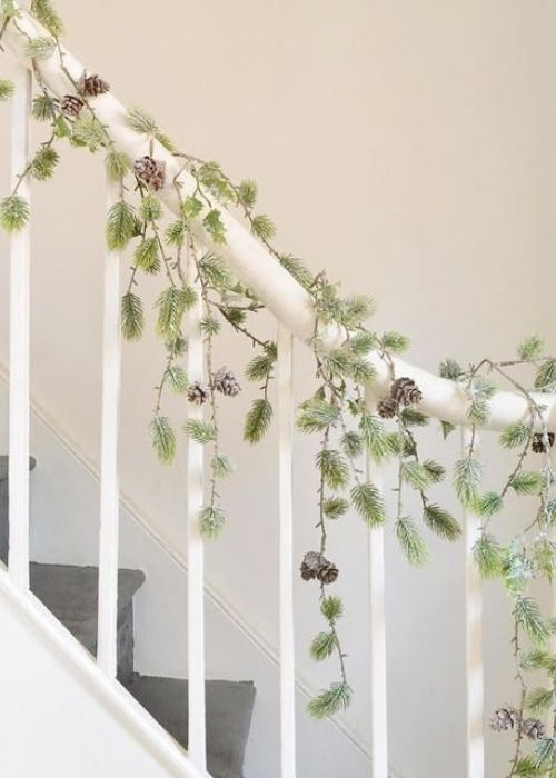 weeping pine garland christmas