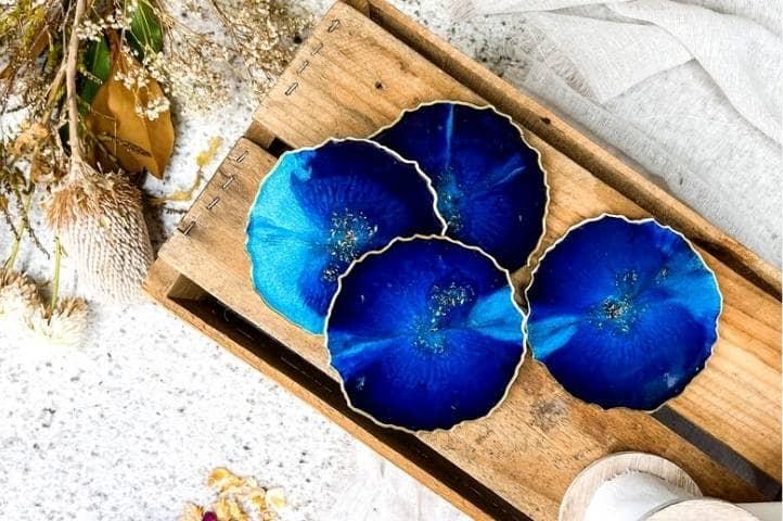 dark blue resin coasters, online bestselling craft