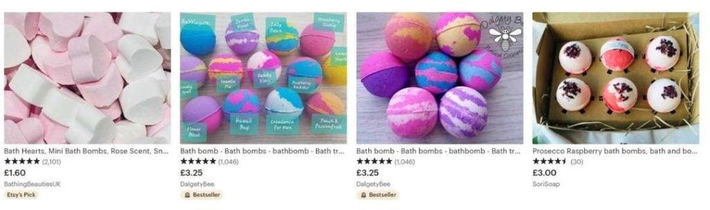 etsy bath bombs