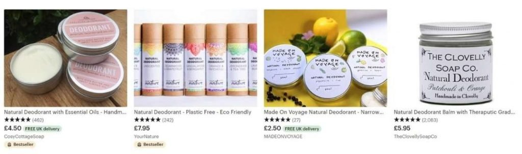 natural cosmetics that sell on etsy really well