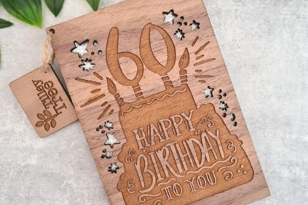 wood crafts that sell, wooden birthday cards