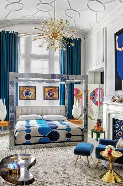 classic and elegant art deco bedroom idea
