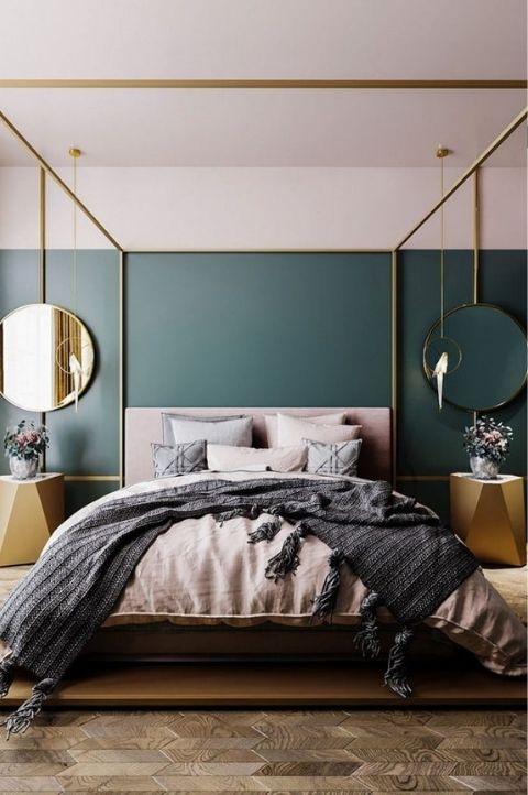 scandi style art deco bedroom