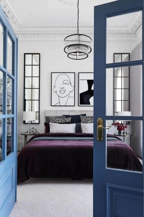 modern haute couture art deco bedroom small space
