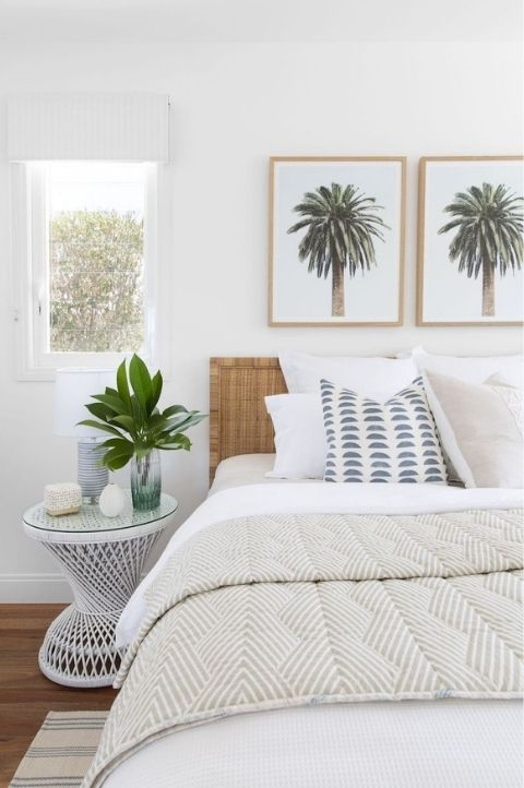 tropical coastal bedroom floridian style palm trees