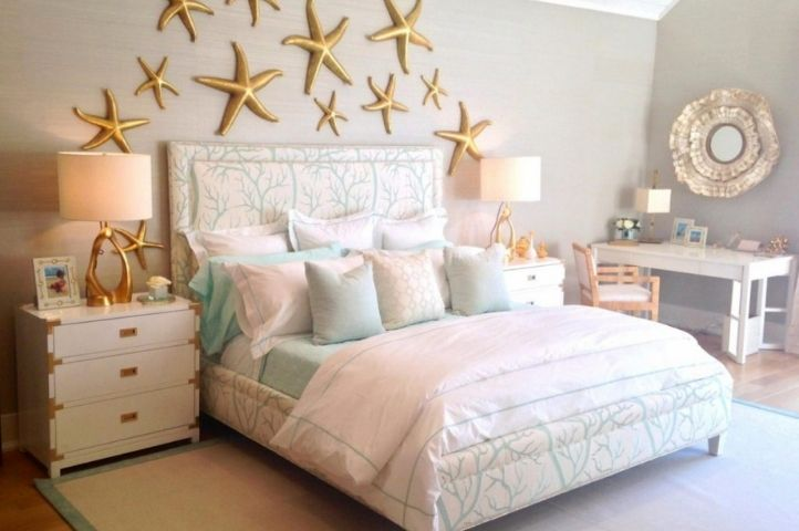 pastel princess master bedroom, seaside inspired look