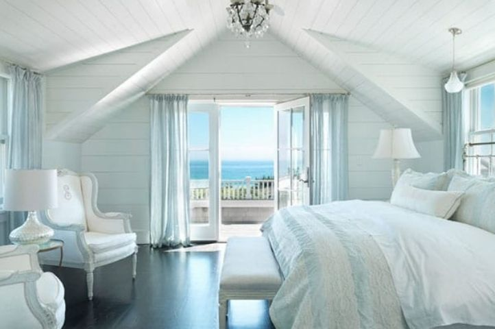 white wash and baby blue accent seaside room