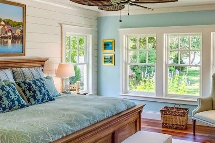 stunning country coastal bedroom