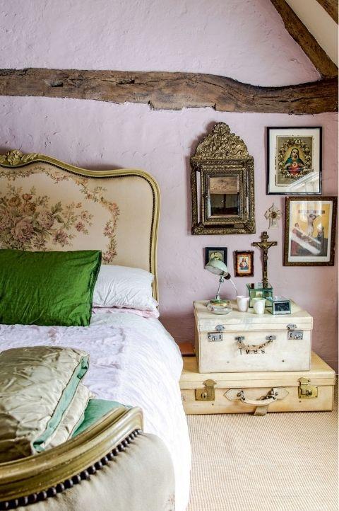 religious, rural France Parisian bedroom