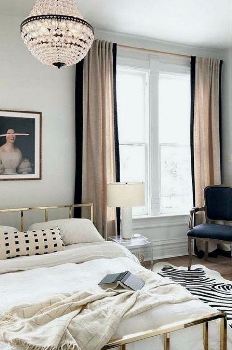 modern mid century French Parisian bedroom