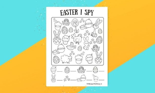 Free Easter Printable I Spy Game