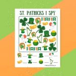 Free St.Patrick's Day I Spy Printable Game