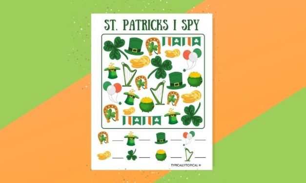 Free St.Patrick's Day I Spy Printable Game
