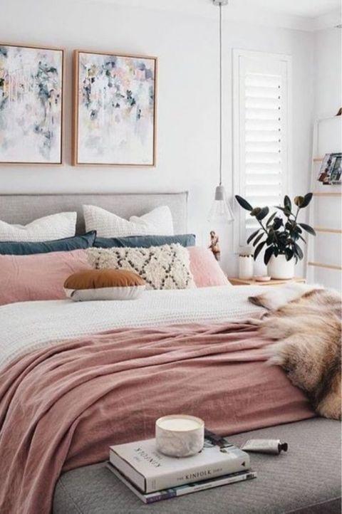 Vintage style Scandinavian bedroom