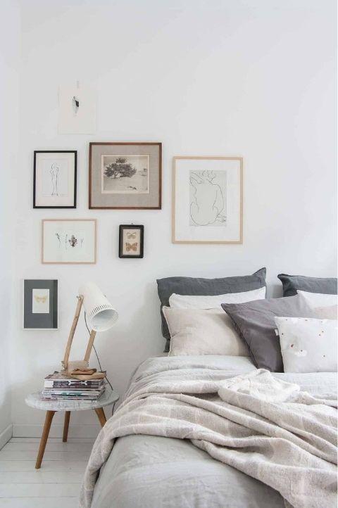 elegant yet simplistic Scandinavian bedroom
