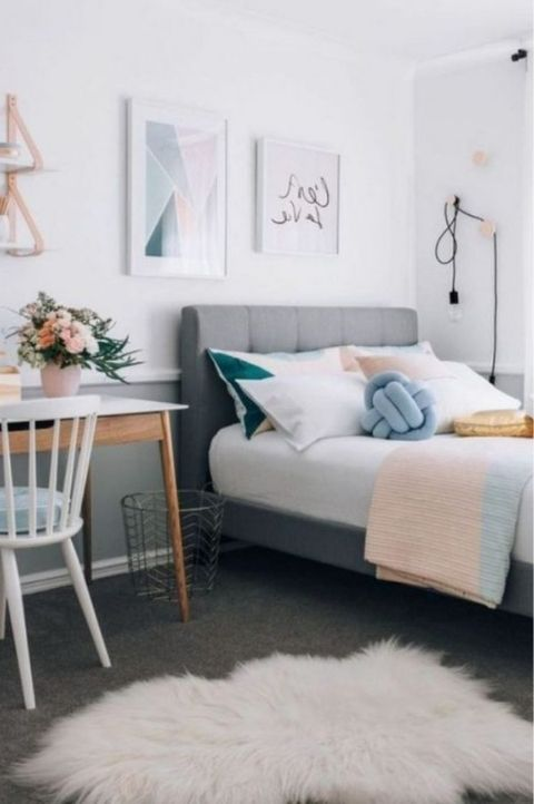 Pastel Scandi bedroom