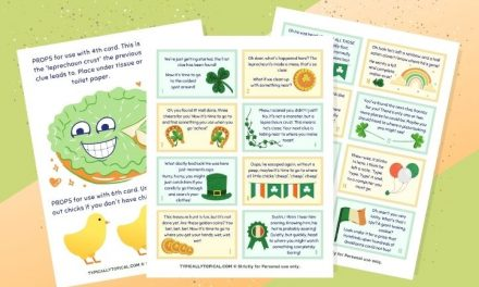 Free St.Patrick's Day Scavenger Hunt Clues [+ Interactive Props!]
